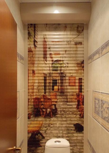 Ремонт туалета использование рольставен