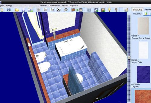 компьютерная визуализация при ремонте ванной комнаты